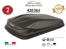 BOX BAULE AUTO PORTATUTTO PORTABAGAGLI GEV 420LT. EASY BLACK E9018/C NERO OPACO