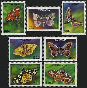 Tanzania 1445-1451,1452,MNH.Michel 2256-2262,2263 Bl.311. Butterflies 1996