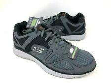 NEW! Skechers Men's SATISFACTION FLASH POINT Shoes Grey Size:8 #58350 e13d a