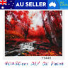 DIY Paint Forest Scenery Oil Painting By Number Kit Canvas Home Wall Art