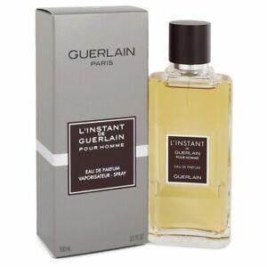 L'Instant De Guerlain Pour Homme Eau De Parfum Spr EDP For Men 3.3 / 3.4 Oz NIB