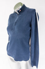 Ralph Lauren Polo Jeans Co. Womens 1/2 Zip Cotton Pullover Navy Athletic Sz L