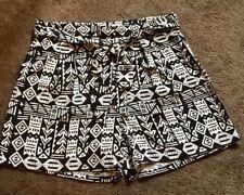 Ed.it.ed. Ladies Shorts Size 10 Geometric Type Print Tie Waist BNWOT