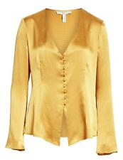 5C57 NEW $248 Women's Size Medium Joie Madora Blouse In 'Dusty Gold' Yellow