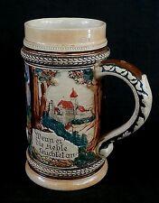 Antique German ceramic beer stein bierkrug 1/2 L.