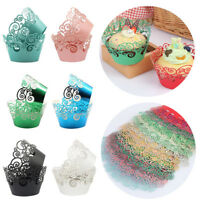 12PCS Muffins Paper Cupcake Wrappers Baking Cups Cases Muffin Boxes Cake Cup