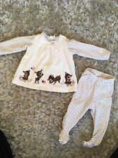 H&M Baby Girls Bambi Deer Outfit 1-2 Months