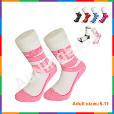 Free Ballet Silly Sock Sneaker Socks Cotton Shoe Print gift Christmas Birthday