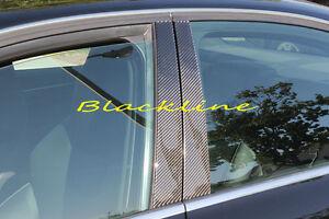 For 09~15 Audi B8 A4 S4 Sedan Carbon Fiber Door Trim Pillar Panel Quattro Sline