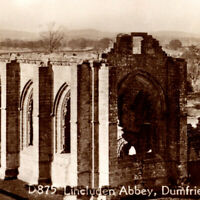 Antique 1920s lincluden Abbey Dumfries Uchtred Lord Calloway Postcard UK