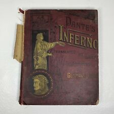 Antique 1800s DANTE'S INFERNO New Edition Large Book Illustrated by Gustave Dore