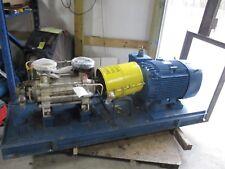 HALBERG MULTI STAGE PUMP 4 STAGE GENERAL ELECTRIC 75 HP MOTOR #12952C *USED
