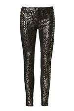 DIVINE Womens SASS & BIDE 'No Boundaries' Python Leather Pants Size Eu 42 Aus 12