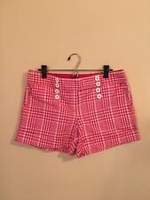Zinc Women's Red White Gingham Shorts Size 13