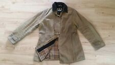 Women's Brown Wax Cotton BARBOUR Newmarket Sylkoil Outdoor Field Jacket Coat 12