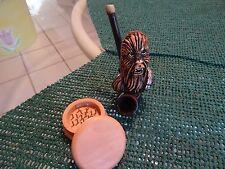Chewbacca Tobacco Smoking  Pipe+Grinder.& 5  screens <  No Glass  ( PM3103+G  )