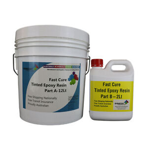 Slip Resistant Fast Cure Tinted Epoxy Many Colours Easy DIY Coating 2Pk 6A:1B