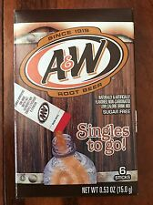 2 Boxes Of A & W Root Beer Singles to go!