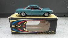 Politoys Italy ref 502 fiat siata cup 1500 blue almost new + original box d