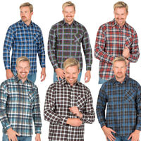 Mens Flannel Shirt Brushed Warm Work Casual Lumberjack Shirts Check Long Sleeve