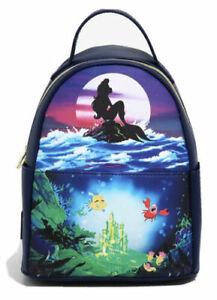 Loungefly Disney Little Mermaid Mini Backpack Ariel Silhouette Characters Bag