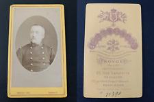 Provost, Toulouse, militaire en médaillon Vintage albumen print CDV. Tir