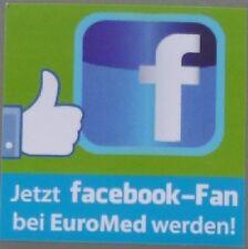 Aufkleber FACEBOOK-FAN bei Euro-Med werden Sticker Autoaufkleber Werbeaufkleber