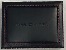 New Tommy Hilfiger Men's Leather Front Pocket & Valet Wallet Black Color $18.50