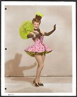 Vivian Blaine Original 1940s Color Portrait Photo
