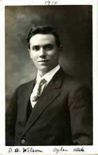 More details for mormon portrait rppc postcard elder b a wilson ogden utah hull 1910 signed