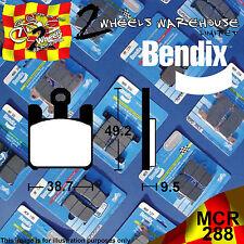 BENDIX 288-MCR TRACKDAY RACING CARBON FRONT BRAKE PADS KAWASAKI ZX6R 636cc 2003