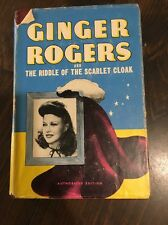 Ginger Rogers And The Riddle Of The Scarlet Cloak Hardcover HC DJ Dust Jacket
