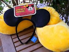 Disney Parks Mickey Mouse Ear Headband & Slipper Shoes Plush Costume NEW