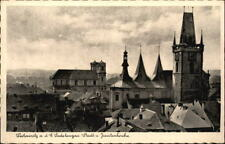 LEITMERITZ Elbe Sudetengau Litoměřice um 1940 Teilansicht mit Jesuiten-Kirche