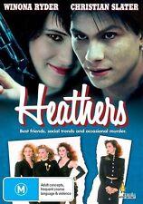 Heathers (DVD) Comedy Winona Ryder Christian Slater [All Regions] NEW/SEALED