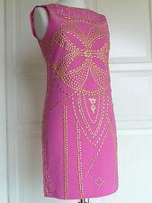 Original versace for h&m vestido vestido de seda dress Silk cerise EUR 34 us 4 UK 8