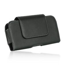 HTC Desire 626 626s ~ Horizontal Leather Pouch Case Holster Swivel