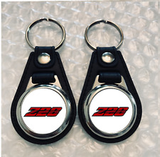 WHITE Z28 WITH RED LETTERS KEYCHAIN SET 2 PACK