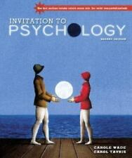 Invitation to Psychology, 2nd Edition-Book & Brand New Video Classics Disk!