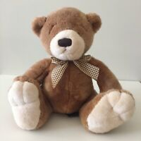 Vintage Russ Berrie Chaucer Teddy Bear Plush Light Brown Sitting Soft Stuffed
