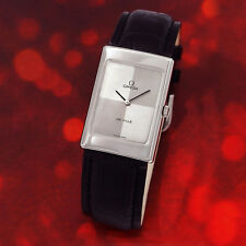 VINTAGE COLLECTABLE OMEGA DE VILLE MEN'S MANUAL SS SILVER 2 TONE DIAL WATCH