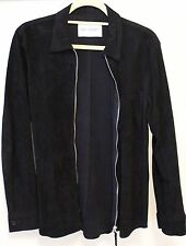 Our Legacy Suede Zip Shirt Jacket Black Size 46 Small