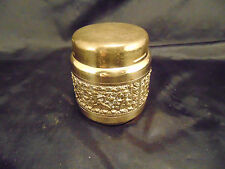 Vintage cigarette holder brass color metal Old Hollywood style collectible art