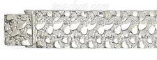 """Sterling Silver 8"""" Nugget Bracelet 23mm"""