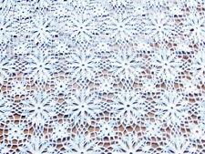 RIDEAU  PANNEAU CROCHET D'ART FAIT MAIN ARTISANAT FRANCAIS  blanc SUPER PROMO*