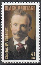 USA gestempelt Charles W. Chesnutt Schriftsteller Dichter Literatur Bücher /7632