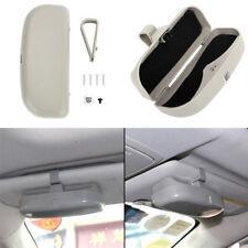 Grey ABS Car Sun Visor Clip Glasses Case Sunglasses Holder Eyeglass Storage Box