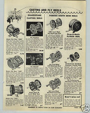 1949 PAPER AD South Bend Perfectoreno Aluminum Fishing Reel Bache Brown Airex