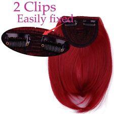 Hair Clip in Bangs Fake Hair Extension Hair Piece Clip on Front Neat Bang lkk