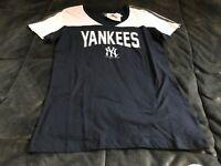 A73 New York Yankees Majestic MLB women's navy tshirt XS